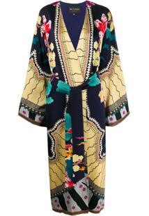 Etro Kimono Com Cinto - Azul