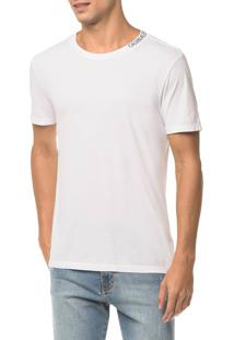 Camiseta Ckj Mc Estampa Logo Gola - Branco 2 - P