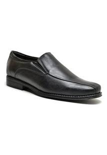 Sapato Social Para Pés Largos Masculinho Side Gore Sandro Moscoloni Johnston Preto (Edwine)