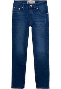 Calça Jeans Levis 512 Slim Taper Infantil - 10001 - Masculino-Azul Escuro