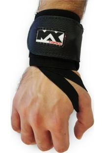 Munhequeira Max Force Profissional Powerlifting Lpo Pulso