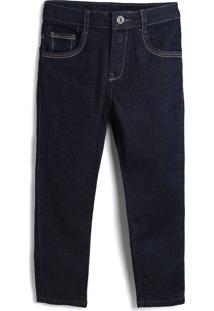 Calça Jeans Jeans Carinhoso Menino Liso Azul-Marinho