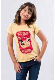 Camiseta Infantil Iara Reserva Mini Feminina - Feminino-Amarelo