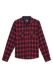 Camisa Xadrez Juvenil 10 A 16 Anos Menino Gangster Vermelho