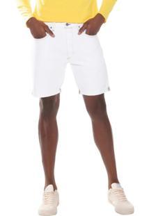 Bermuda Jeans Levis 501 Taper Cut Off Pride 10001 Branca - Kanui