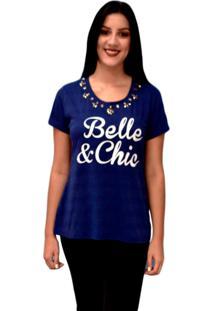 Camiseta Energia Fashion Com Estampa Azul Marinho