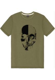 Camiseta Juvenil Masculina Verde