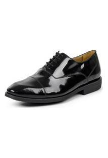 Sapato Oxford Sandro Moscoloni Verniz Legacy Tuxedo Preto