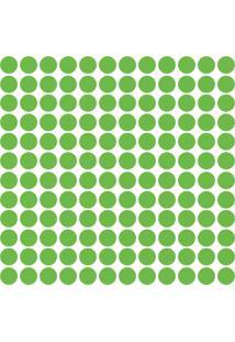 Adesivo De Parede Bolinhas Verde Claro 144Un - Tricae
