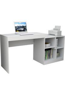 Escrivaninha E Mesa P/ Computador Moove Branco Appunto