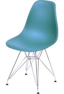 Cadeira Eames Polipropileno Azul Petroleo Base Cromada - 43034 - Sun House