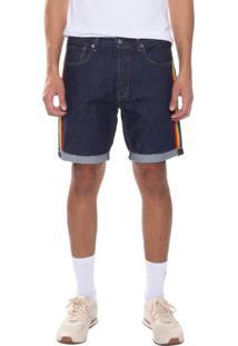 Bermuda Jeans Levis 501 Taper Cut Off Pride 00000 Azul Marinho