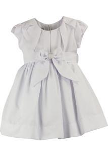 Vestido Pipoca Doce Fustão Branco