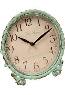 Relógio De Mesa Vintage Decorativo Chartres De Metal