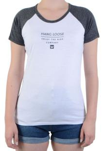 Blusa Hang Loose Baby Look Bicolor Company - Branco / P