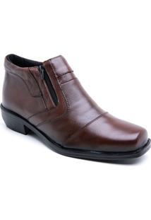Bota Social Masculino Em Couro Bico Quadrado Estilo Shoes Dz1100 Cf