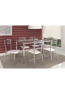 Conjunto De Mesa Reno Com 6 Cadeiras Portugal Branco