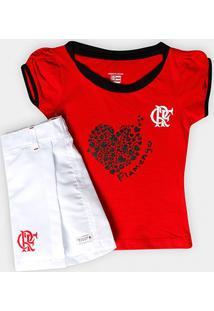 Conjunto Flamengo Juvenil Short Saia - Feminino