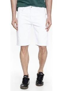 Bermuda Get Fashion Jeans Lemier Slim Masculina - Masculino-Branco