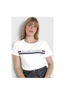 Camiseta Polo Wear Do More Branca