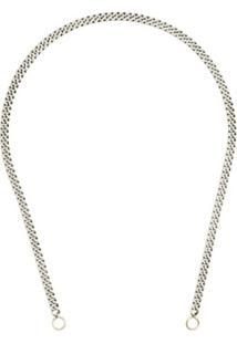 Marla Aaron Colar Em Prata De Lei E Ouro - Metallic