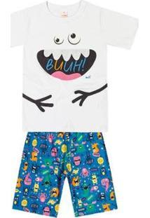 Pijama Infantil Marisol Masculino - Masculino-Branco
