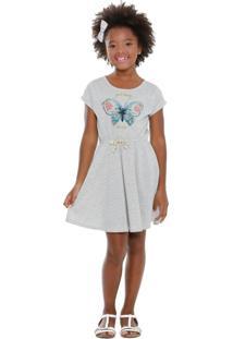 Vestido Infantil Estampa Borboleta Marisa