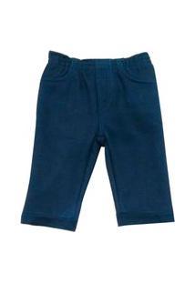 Calça De Moletom Bebe Masculina Da Azul Marinho