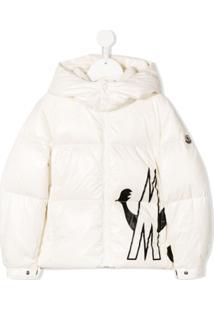 Moncler Kids Contrast M Padded Jacket - Branco
