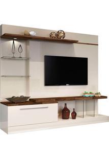 """Estante Para Tv De Até 60""""Allura-Hb Móveis - Off White / Deck"""