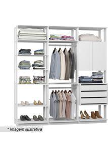 Guarda Roupa Clothes- Branco- 220X210X44,5Cmbentec