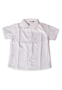 Camisa Manga Curta Infantil Menino Fredie Mon Petit Branca.