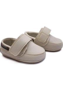 Sapato Bebê Baby Way Velcro Menino - Masculino-Gelo