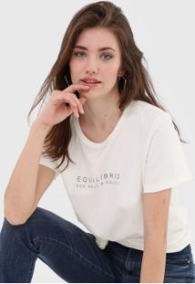 Camiseta Colcci Equilíbrio Off-White