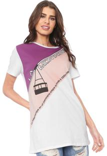 Camiseta Lez A Lez La Montagne Branca/Rosa