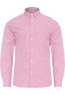 Camisa Masculina Mini Printed - Vermelho