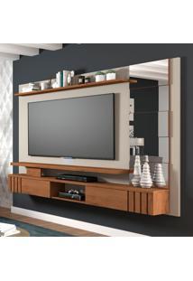Painel Para Tv Até 50 Polegadas Murano Cinza E Marrom