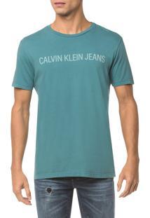 Camiseta Ckj Mc Logo - Verde - Pp