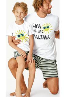 Pijama Branco Sustentável Filho