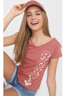 Camiseta Roxy Letrer Rosa - Kanui