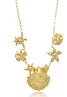 Colar Le Diamond Conchas Dourado