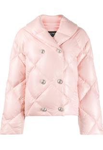 Balmain Double-Breasted Puffer Jacket - Rosa