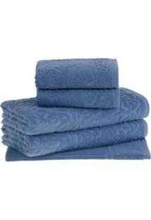 Toalha De Rosto Azul