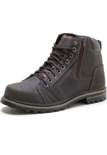 Bota Over Boots Sturdy Boot Couro Marrom