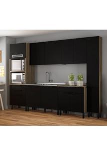 Cozinha Compacta Itamaxi 11 Pt 4 Gv Preta E Castanho