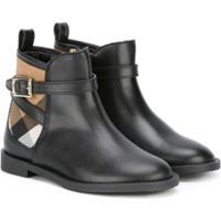 1fc1aaeb814 Burberry Kids Ankle Boot De Couro - Preto