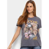 a4c9d07e7 Camiseta Manga Curta Colcci Rock'N Roll Feminina - Feminino