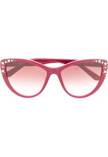 Karl Lagerfeld Óculos De Sol Choupette Rocky - Vermelho