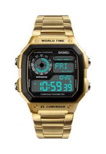 Relógio Skmei Digital -1382- Dourado