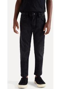 Calça Jeans Infantil Reserva Mini Sm Cosmos Masculina - Masculino-Preto